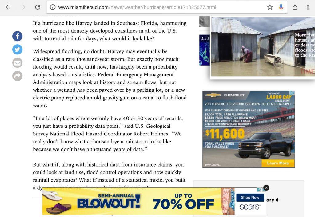 Miami Herald web page